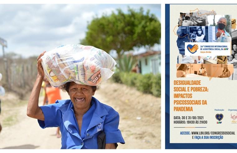 """""""Desigualdade social e pobreza: impactos psicossociais da pandemia"""" é tema de Congresso de Assistência Social, da LBV"""