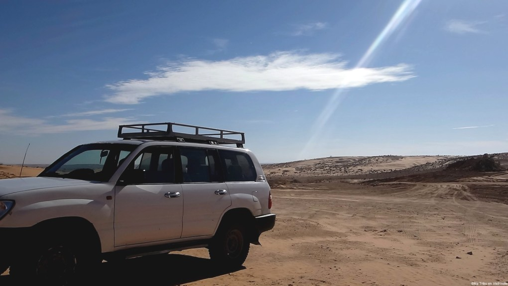 arrivée dans le désert tunisien