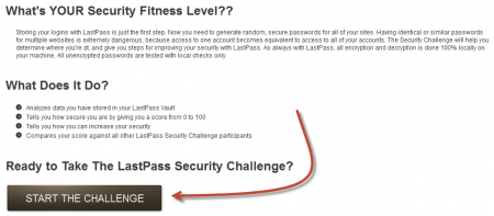 LastPass Security Challenge Page