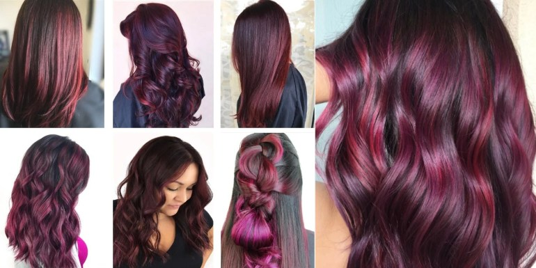 Image result for burgundy hair color