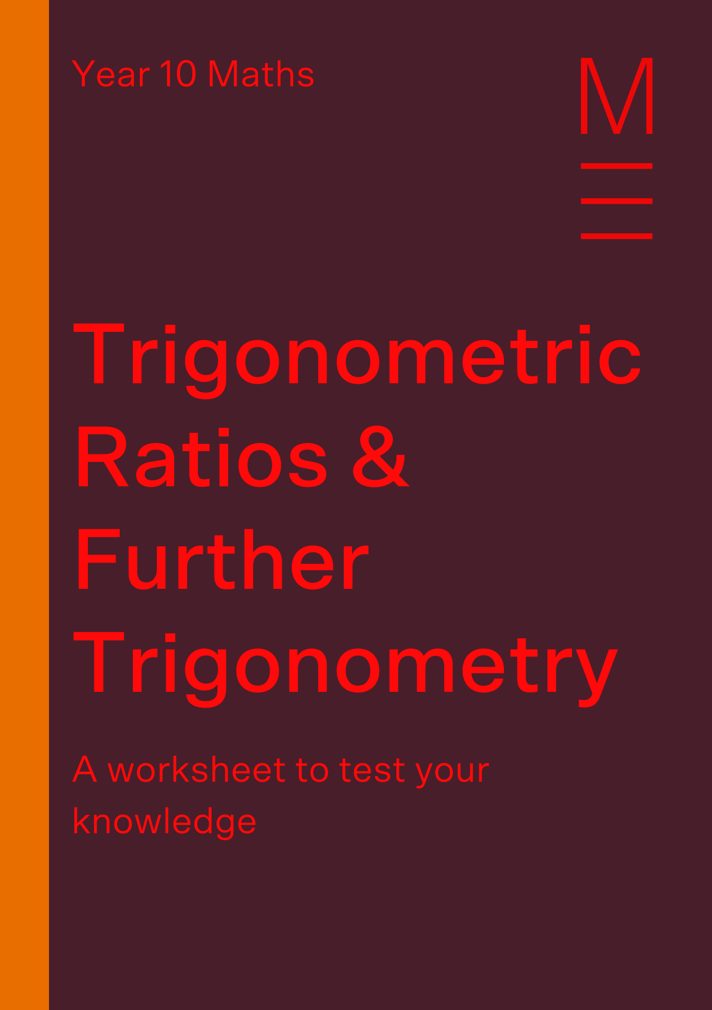 Part 3 Trigonometric Ratios Free Worksheet
