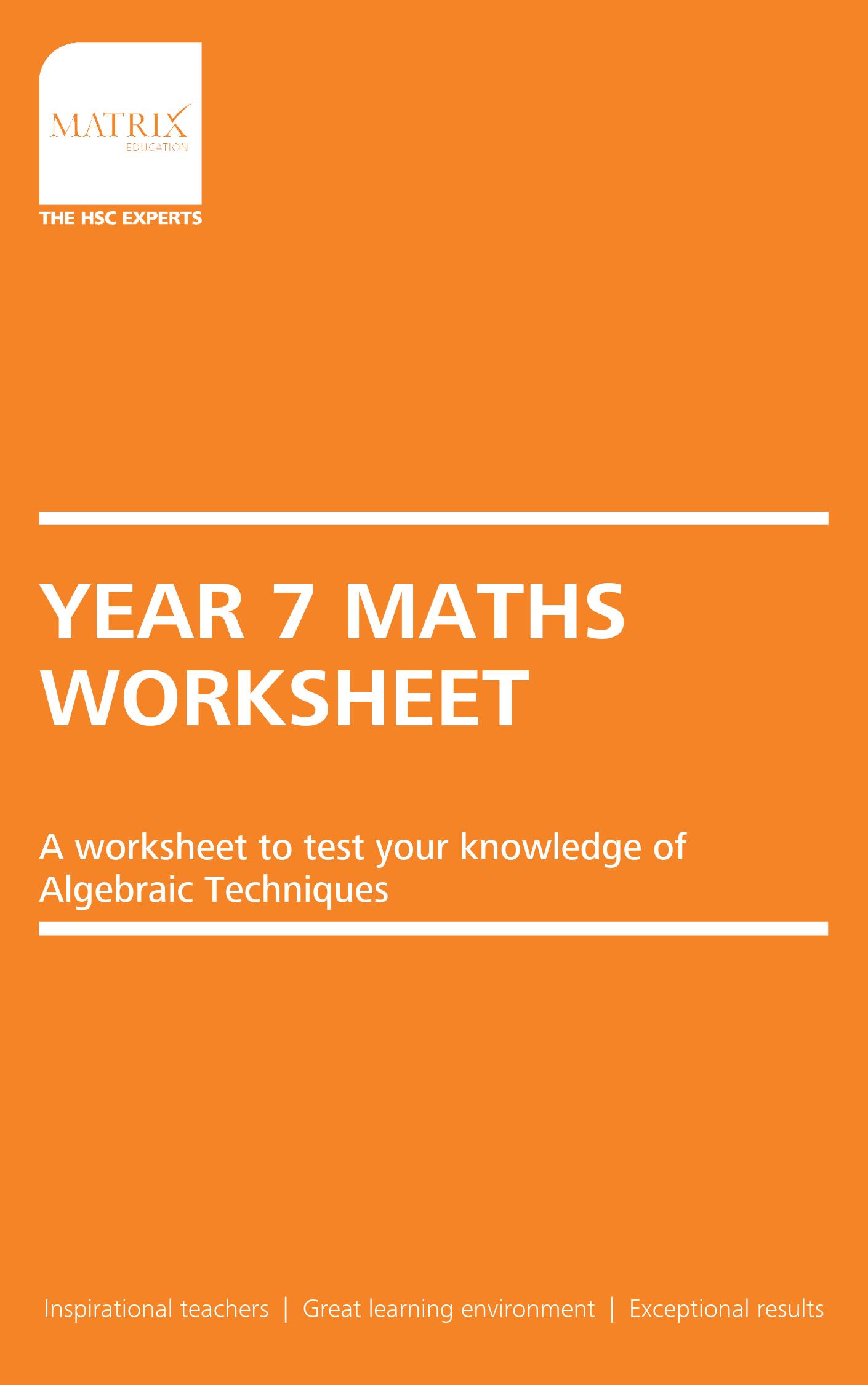 Part 3 Algebraic Techniques