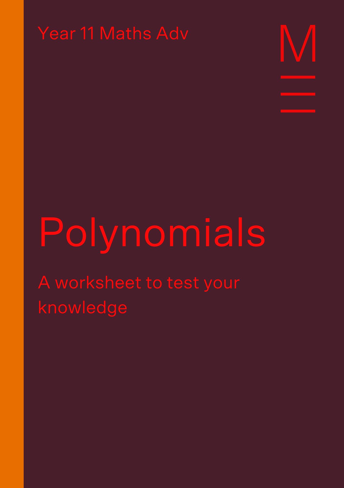 Part 1 Polynomials