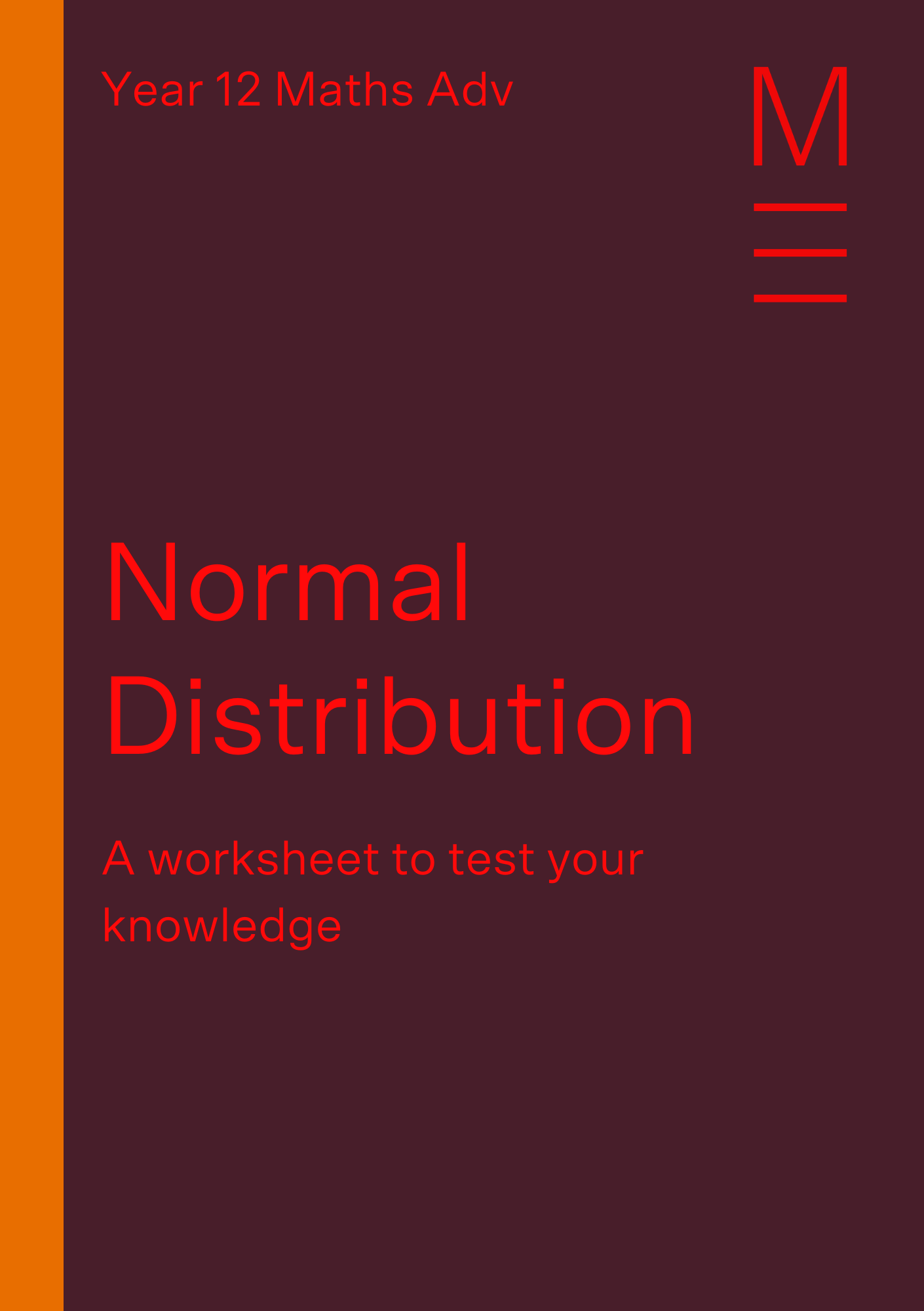 Part 5 Normal Distribution