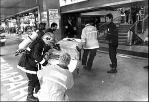 Los servicios de emergencia en plena actuacion