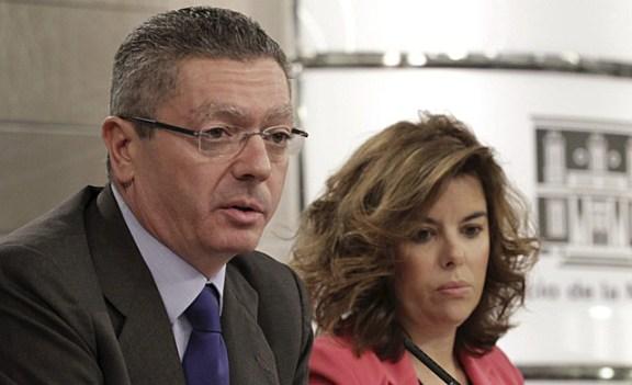 El ministro de Justicia informando de la modificación del Código Penal