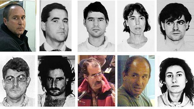 Fotografías de algunos de los presos que pueden beneficiarse tras la derogación de la doctrina Parot. EFE