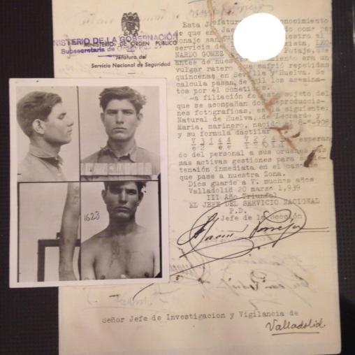Oficio solicitando una detencion (año 1939)