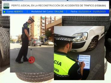 Curso de Perito Judicial en la reconstrucción de accidentes de tráfico