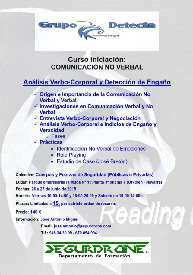 Curso de análisis verbo-corporal y detección de engaño