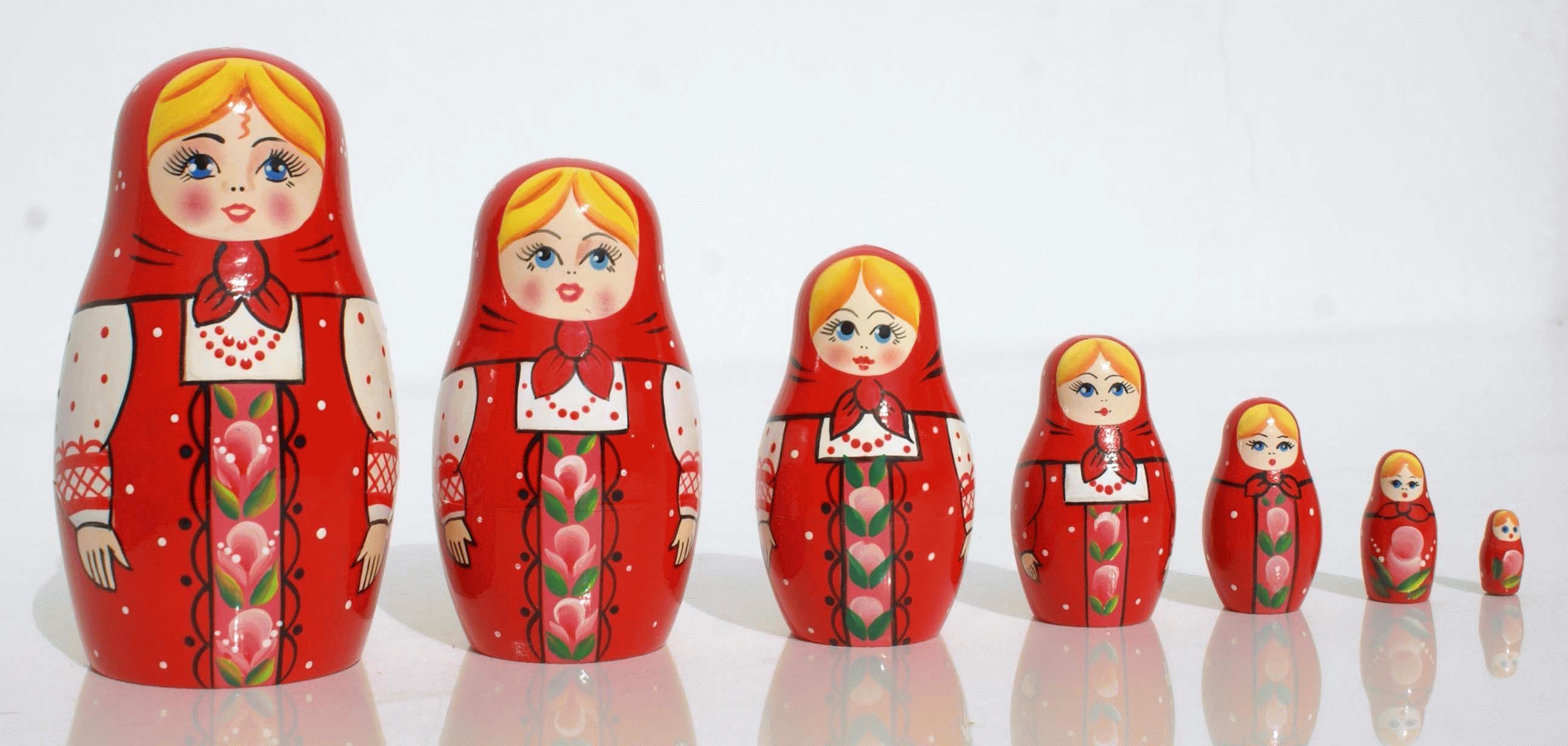 Red Matryoshka Doll On Matryoshkaz