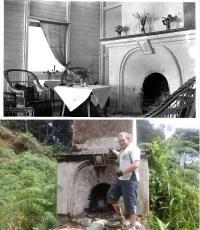 Gambar lama dan gambar baru tempat bakar dan cerobong bukit kutu