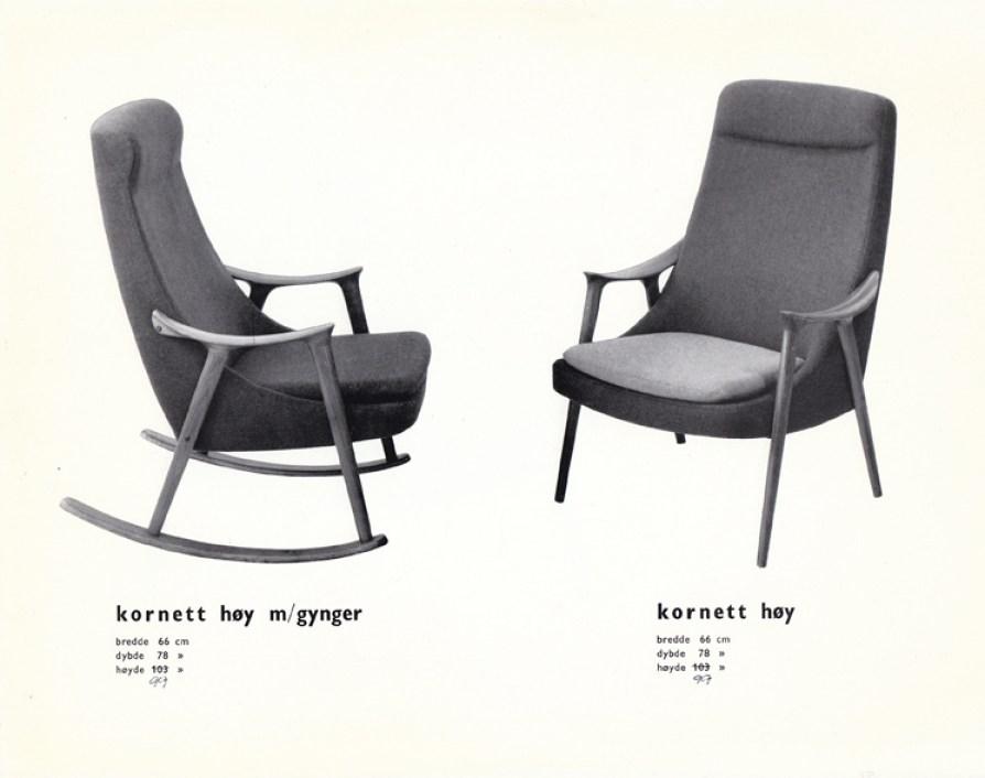 Kornett. Produsert av Møre Lenestolfabrikk.