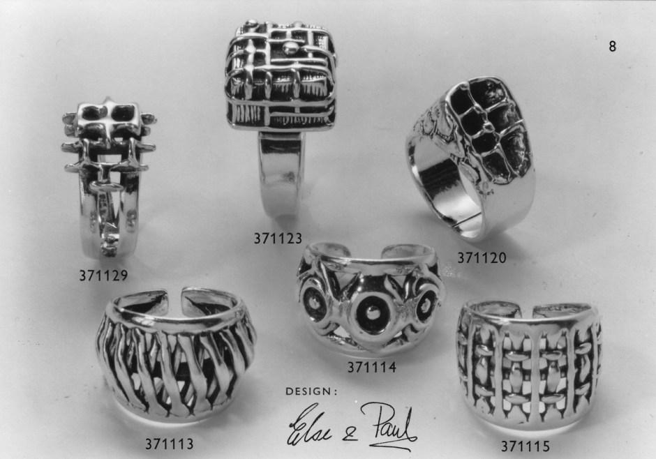 Postkort med ringer i sølv fra Studio Else & Paul.