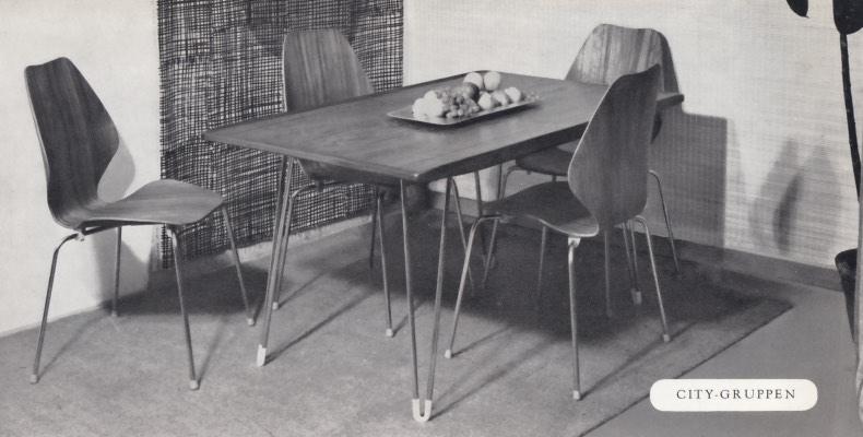 Øivind Iversen. Modell: City. Produsert av Møre Lenestolfabrikk. I produksjon fra 1955/56. (Foto: Mats Linder)