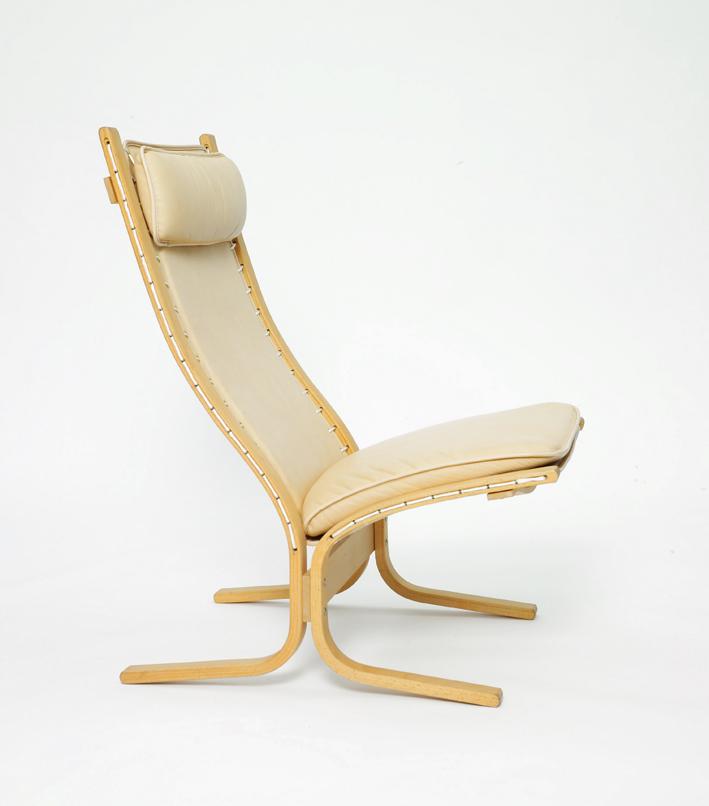 Ingmar Relling. Modell: Siesta. Produsert av Vestlandske Møbelfabrikk. I produksjon fra 1965. Nå produseres Siesta av L.K. Hjelle.