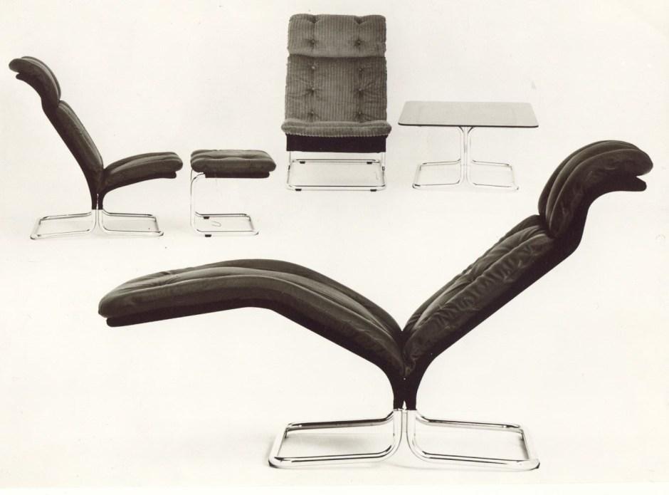 Ingmar Relling. Modell: Tema. Produsert av Vestlandske Møbelfabrikk. I produksjon fra 1973.
