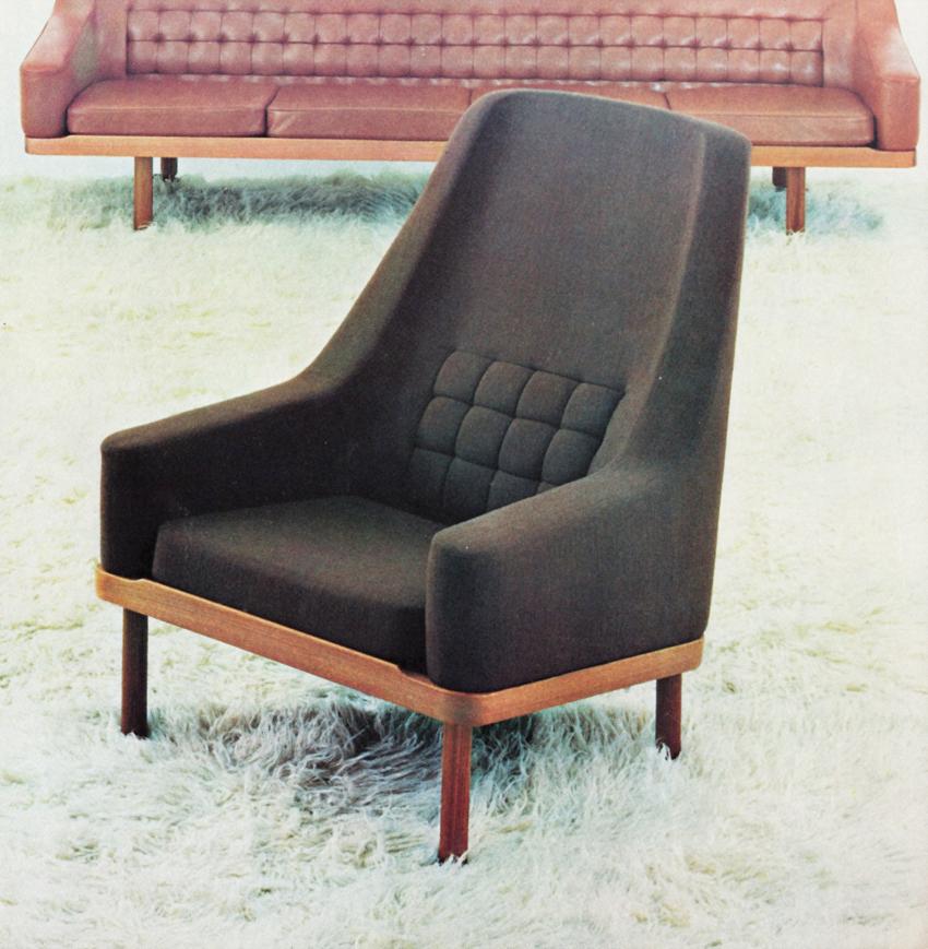 Arne Halvorsen. Modell: 2049 – Continental. Produsert av P.I. Langlos fabrikker. Tegnet og i produksjon fra 1962.