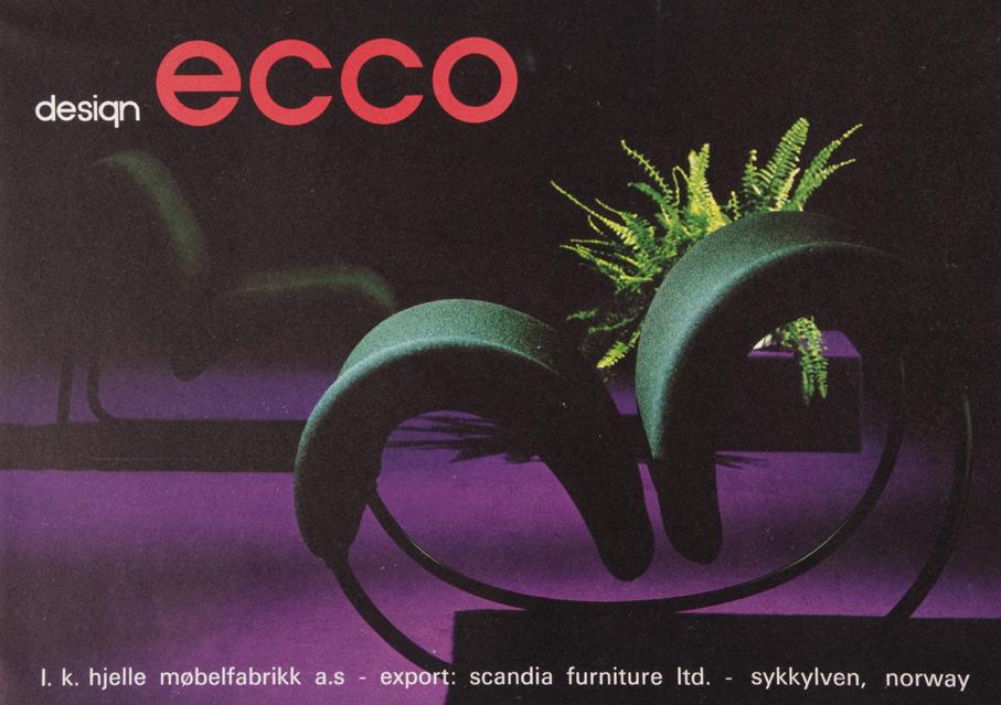 Reklame for Møre Designteams Ecco-serie som produsertes av L.K. Hjelle.