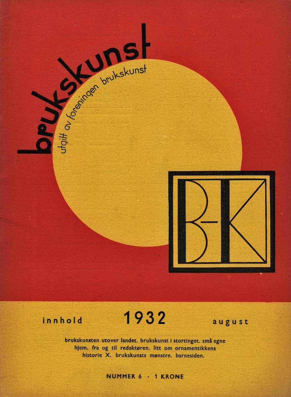 Foreningen Brukskunst tidsskrift. Utgitt i perioden 1931-34. (Foto: Mats Linder)
