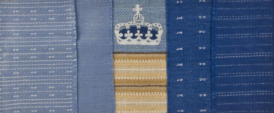 Else Poulsson. Stoffprøver til Kongens soverom og oppholdsrom i Kongeskipet Norge. Ca. 1947-48. (Foto: Mats Linder)