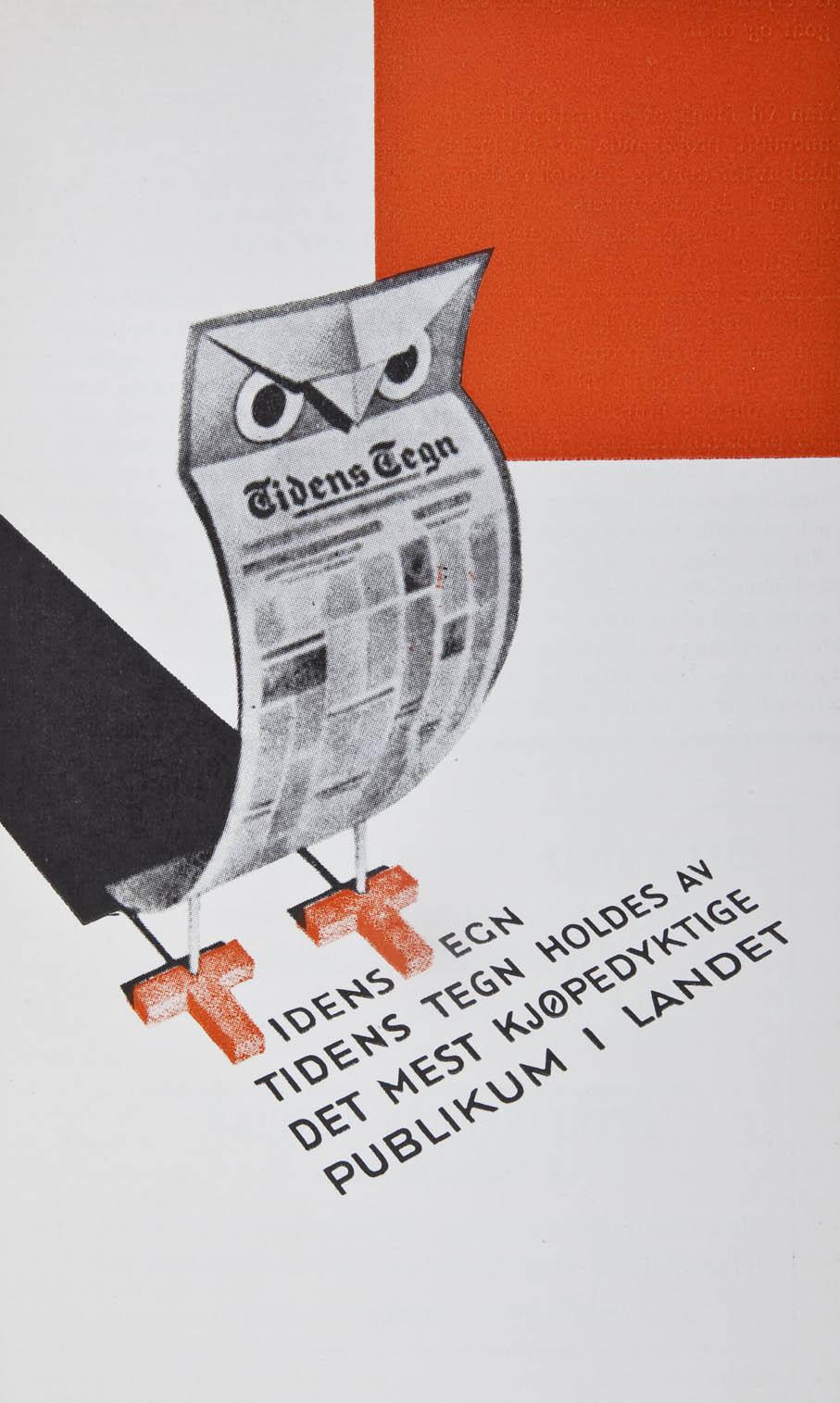 Harald Damsleths premierte reklame for Tidens Tegn i 1931.