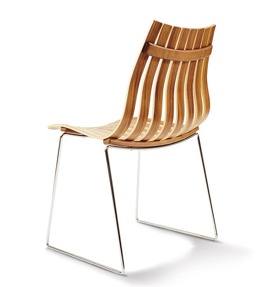 Hans Brattrud. Stablestol. Modell: Scandia Jr. Produseres i dag av Fjordfiesta. Tegnet i 1957. (Foto: Fjordfiesta)
