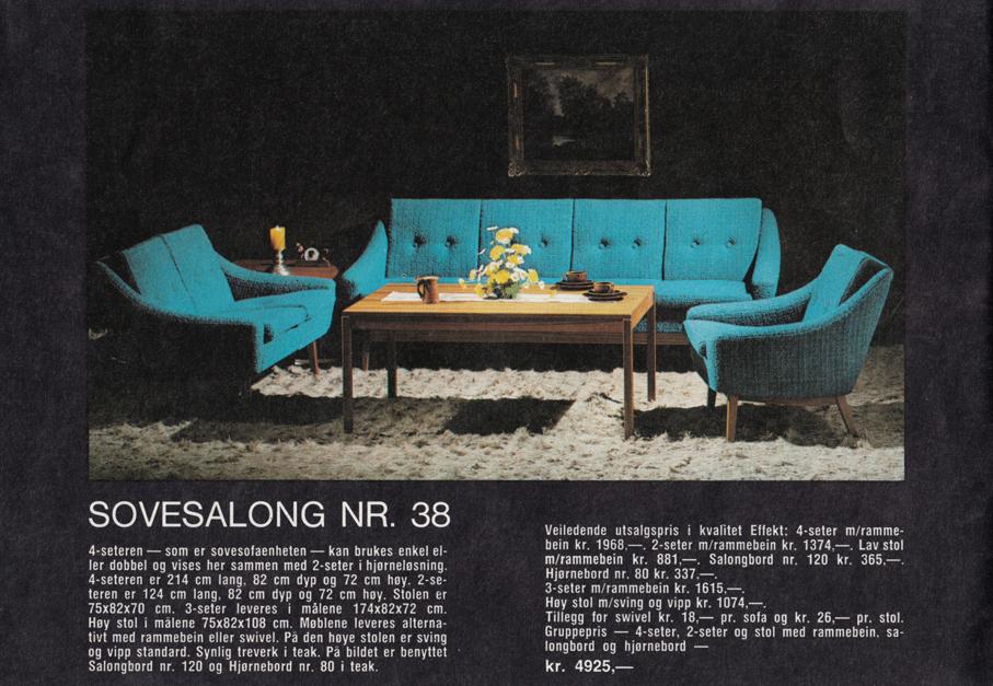 EKORNES – PRODUKTKATALOG FRA 1971 – Mats Linder