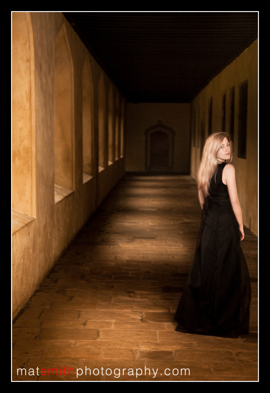 Mat Smith Photography - Ceri at Magdalen in the cloisters