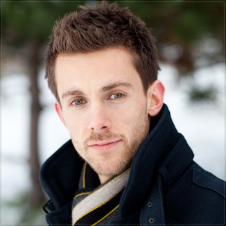 Mat Smith Photography - Radio 4 Actor Tom Graham (Tom Archer) outside in December 2010 Snow