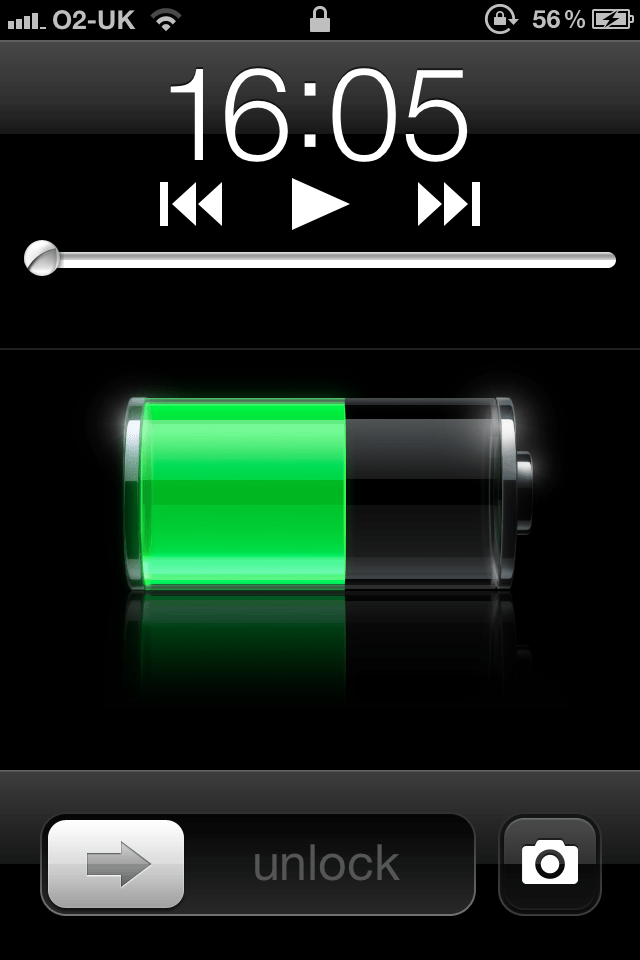 iPhone 4S Lock Screen with Camera Icon
