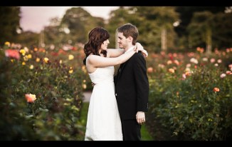 Regent's Park Autumn Wedding - Field of Roses - Mat Smith Photography