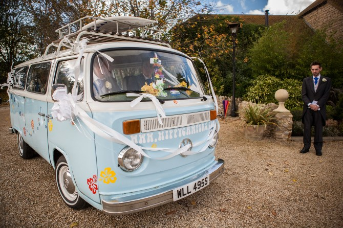 Baby Blue Wedding Camper Van - Mat Smith Photography