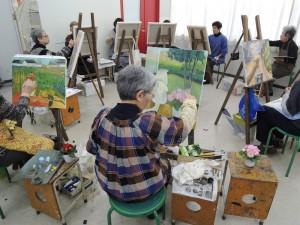 今日の木曜絵画教室