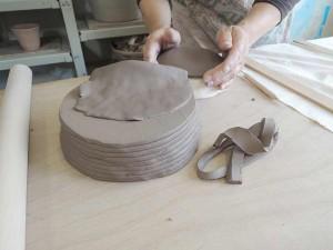 小皿制作の下準備