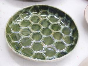 亀甲紋の美しいお皿