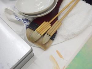 日本画で使う筆