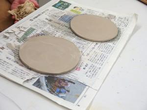 練り込み技法のお皿