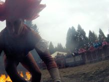 Rolling after the final fire jump.. like a boss!