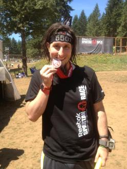 Finished the Spartan Sprint. Unofficial time: 1 hour 38 minutes. 45 minutes better than last year. Knees and elbows are scraped up a bit, but totally worth it. This is what I trained for. So proud of myself. Aroo!!
