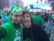 Before the race, with my mom.