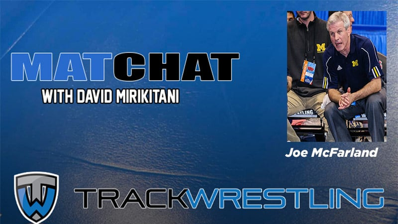 MC67 Retired Michigan Wrestling Coach Joe McFarland Mat