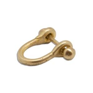 mattana design anello menotte bronzo