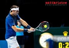 Barclays ATP World Finals. Group B Match between Juan Martin Del