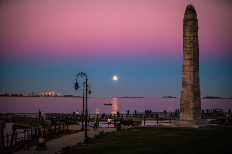 Harvest Moon at Castle Island