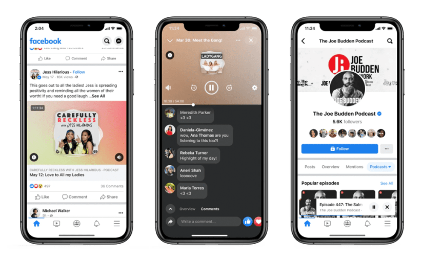 Facebook Gets Into Podcasting