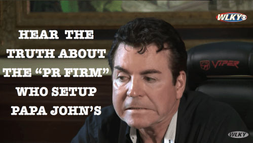 Papa Johns and John schnatter were set up by a shady PR Firm