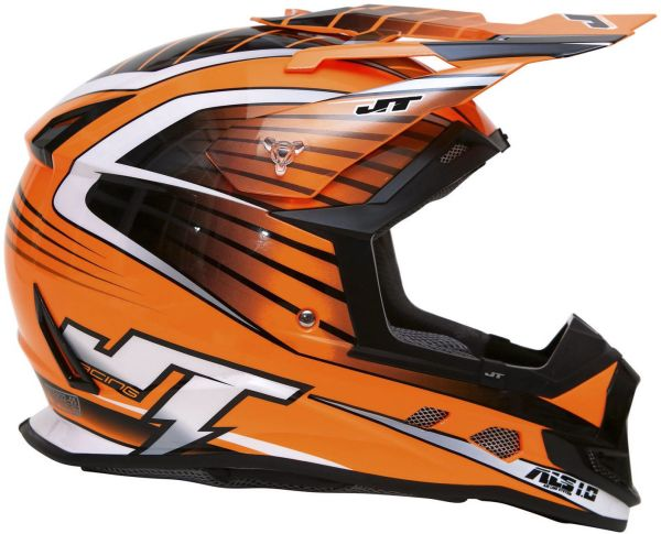 'JT RACING ASL-1 MOTOCROSS MX ENDURO BIKE HELMET ORANGE ...