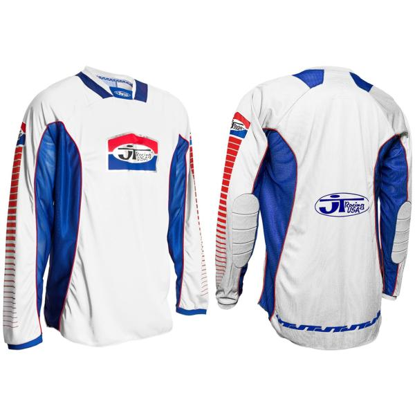 JT RACING PRO-TOUR MOTOCROSS MX JERSEY - WHITE / BLUE ...