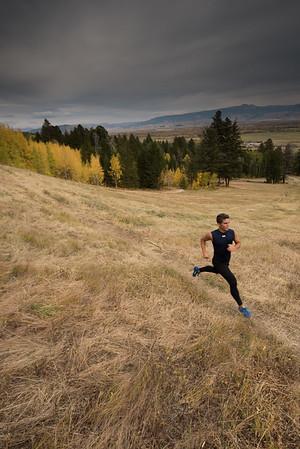 Trail runner in Jackson Hole Mountain Resort.